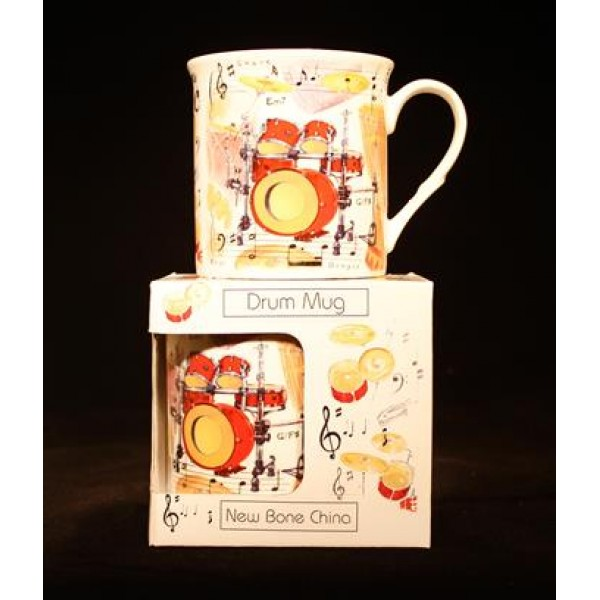 Fine China Mug - Drums Design