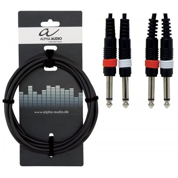 Alpha Audio Basic Line 'Y' 2 x Mono Jack - 2 x Mono Jack 1.5m