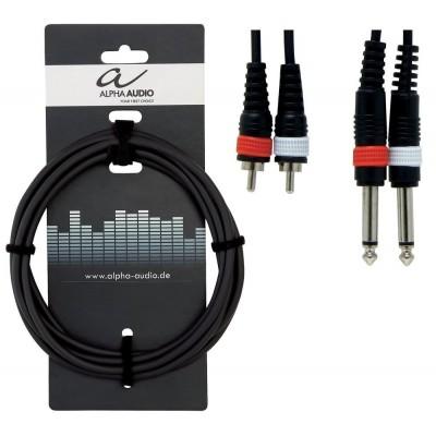 Alpha Audio Basic Line adapter 2x RCA - JACK 3m