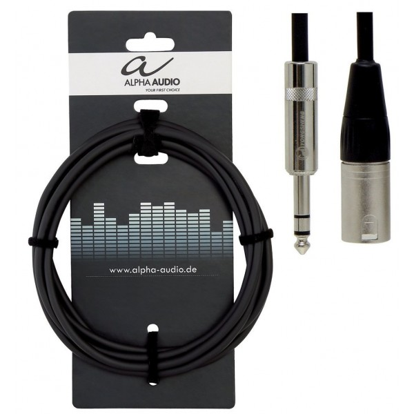 Alpha Audio Pro Line Καλώδιο 3m Stereo jack - XLR(m)