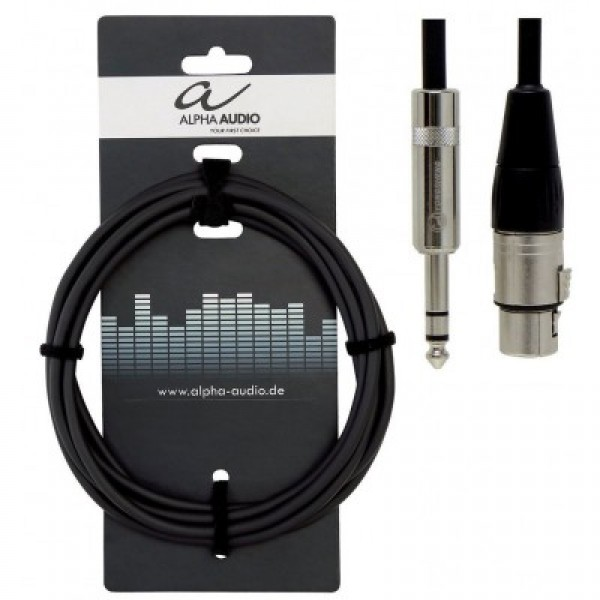Alpha Audio Pro Line Καλώδιο 6m Stereo jack-XLR(f)