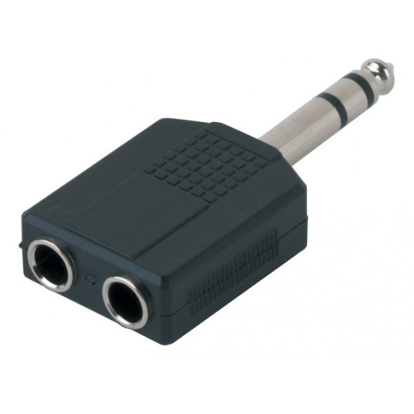 2 x 6,3mm Stereo jack -1 x 6,3mm Adapter