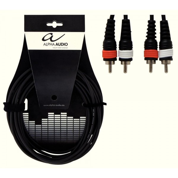 Alpha Audio Basic Line Διπλό καλώδιο RCA 1.5m