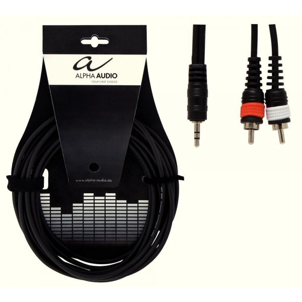 Alpha Audio Basic Line 'Y' Stereo Mini Jack to RCA 3m