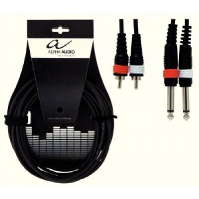 Alpha Audio Basic Line Twin Cable 2x RCA - 2x Jack 1.5 m