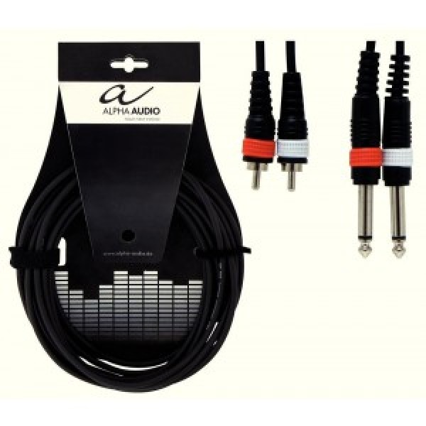 Alpha Audio Basic Line adapter 2x RCA - JACK 1.5 m