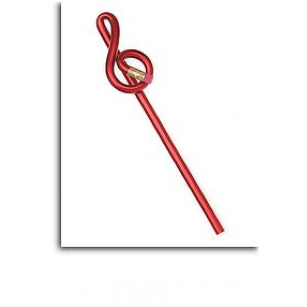 Treble Clef Shaped 'Bentcil': Red