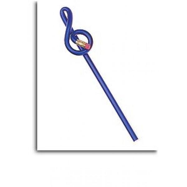 Treble Clef Shaped 'Bentcil': Blue