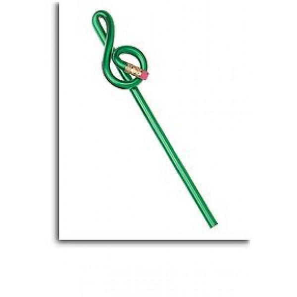 Treble Clef Shaped 'Bentcil': Green