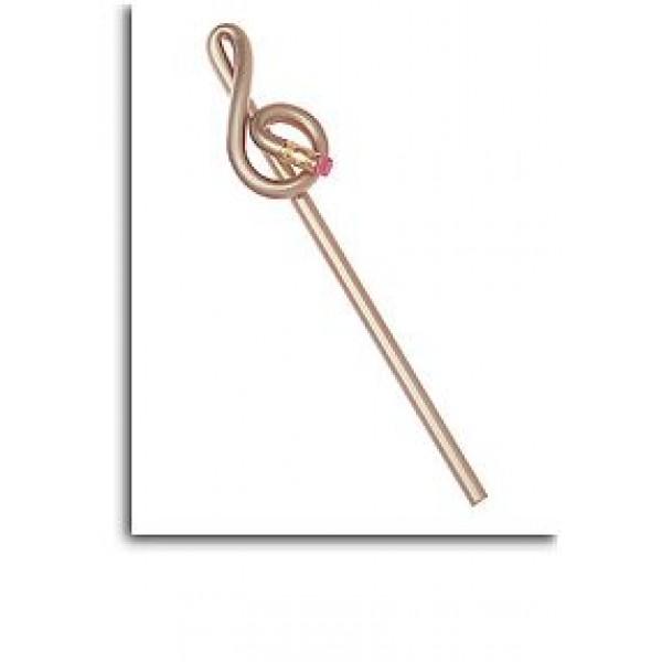 Treble Clef Shaped 'Bentcil': Gold