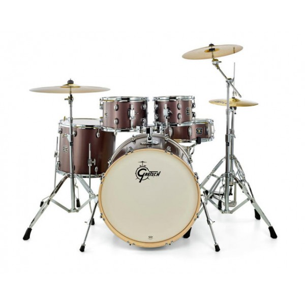 Gretsch GE2 Energy Series Studio - Brushed Grey  No Cymbals