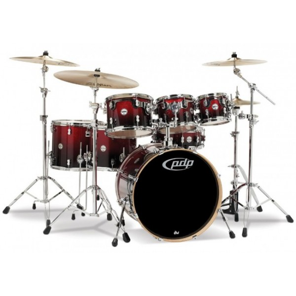 PDP Concept maple CM7 Red to Black Sparkle Fade