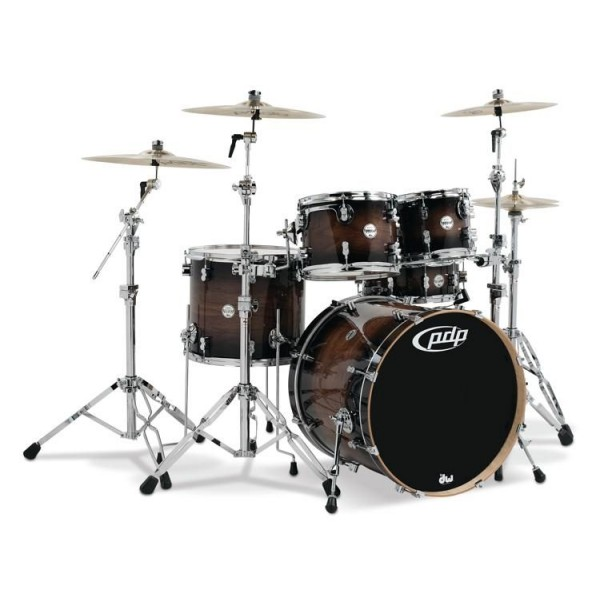 PDP Concept maple Exotic CM5 Charcoal Burst over Walnut