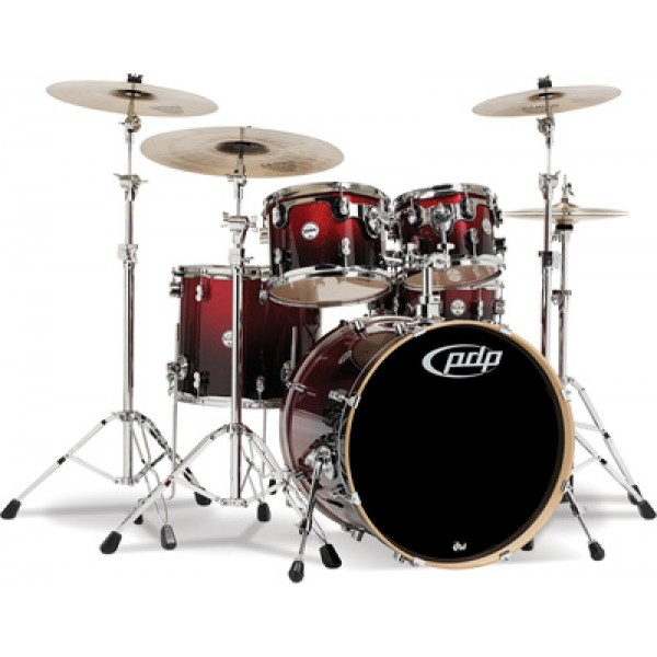 PDP Concept maple CM5 Standard Red to Black Sparkle Fade