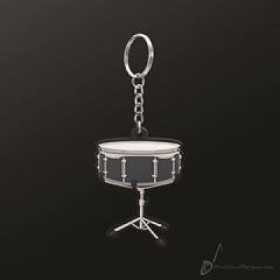 PVC snare drum keyring with one detailed side in 3-D
