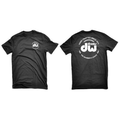 DW Black Heavy Cotton T-Shirt Short Sleeve PR25SSBL
