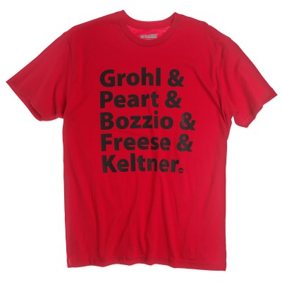 DW Grohl - Peart Red Cotton T-Shirt Short Sleeve PR25SSGP