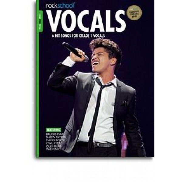 Rockschool: Vocals Grade 1 - Male (Book/Audio Download)