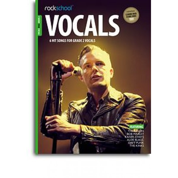 Rockschool: Vocals Grade 2 - Male (Book/Audio Download)