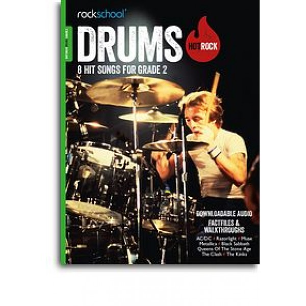 Rockschool: Hot Rock Drums - Grade 2 (Book/Audio Download)