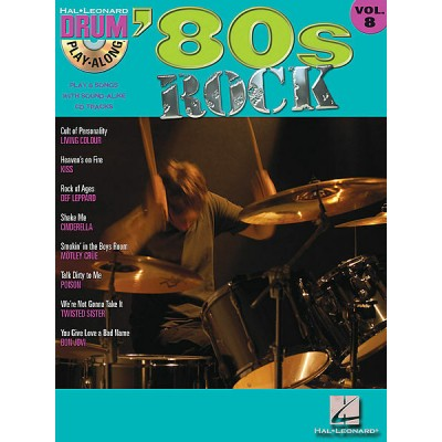 80S ROCK Drum Play-Along Volume 8
