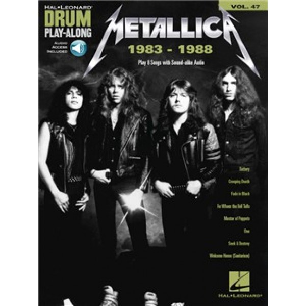 Metallica: 1983-1988 - Drum Play-Along Volume 47