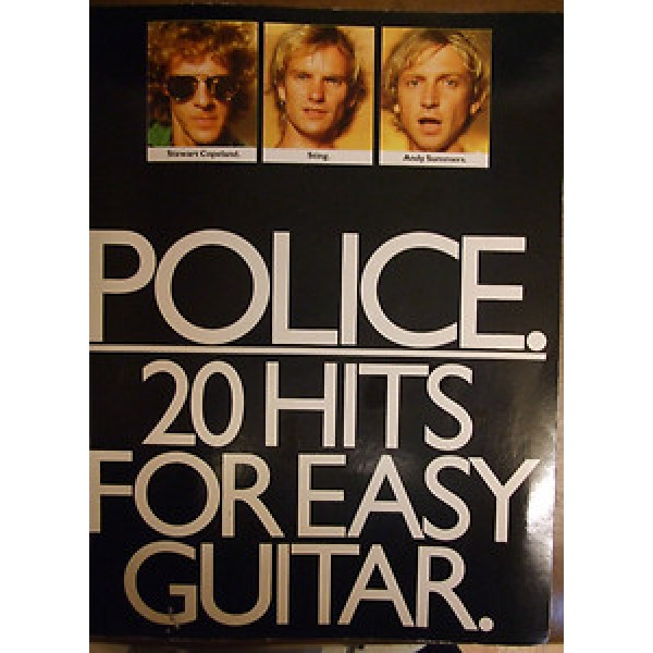 POLICE - 20 HITS FOR EASY GUITAR PB Book