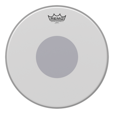 Remo 12'' Controlled Sound X Coated Black Dot