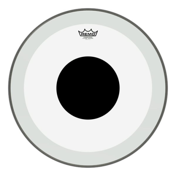 Remo 20'' Powerstroke 3 Clear Black Dot Bass Drum