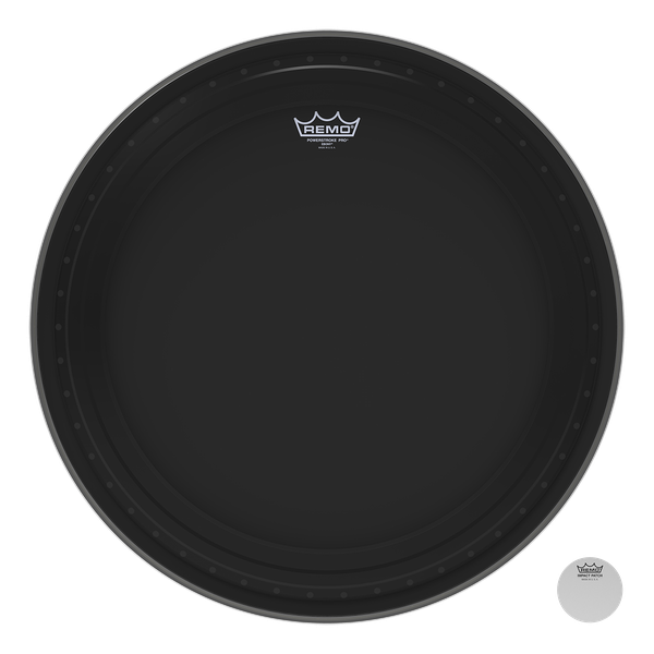 Remo 22'' Ebony Powerstroke Pro Bass Drum