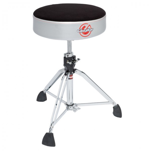 Gibraltar 9608RSG Pro Drum throne Satin Grey Silver Side