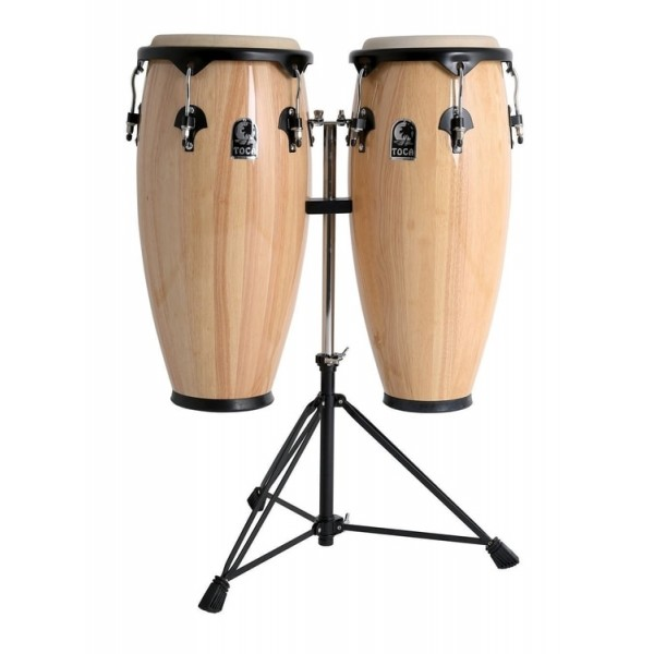 2300N Toca Synergy Series Wood Conga Set with Stand