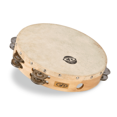 """CP380 CP by LP 10"""" Tambourine With Head Double Row"""
