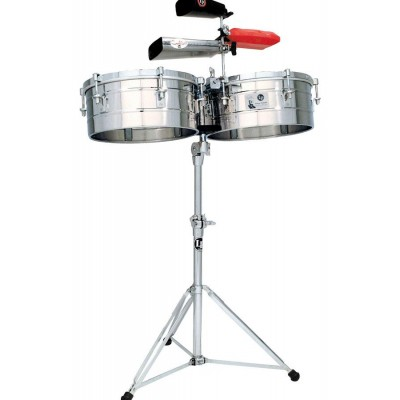 LP255-S LP Tito Puente 12''&13'' Timbales Stainless Steel
