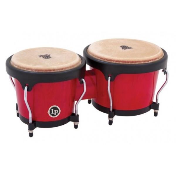 LPA601-RW LP Aspire Wood Bongos, Red/Black