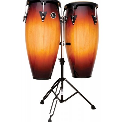 """LPA647-VSB LP Aspire Wood Congas 11"""" & 12"""" Set With Stand"""