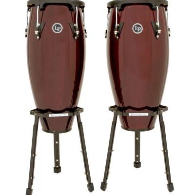 "LPA646B-DW LP Aspire Wood Congas 10"" & 11"" Set Basket Stands"