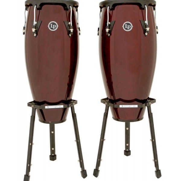 "LPA646B-DW LP Aspire Wood Congas 10"" & 11"" Set Basket Stands"