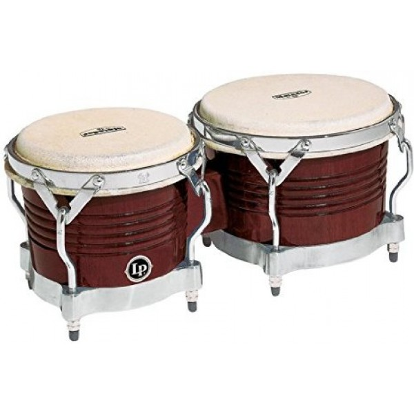 M201-ABW LP Matador Wood Bongos, Almond Brown/Chrome