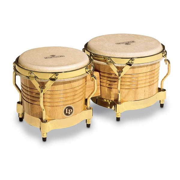 M201-AW LP Matador Wood Bongos, Natural/Gold Tone