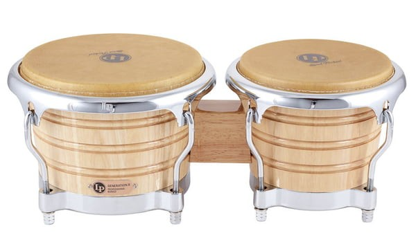 LP201AX-2 LP Generation II Bongos with traditional rims