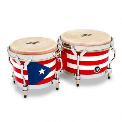 LPM199-PR  LP Music Collection Mini Bongos Puerto Rican Flag
