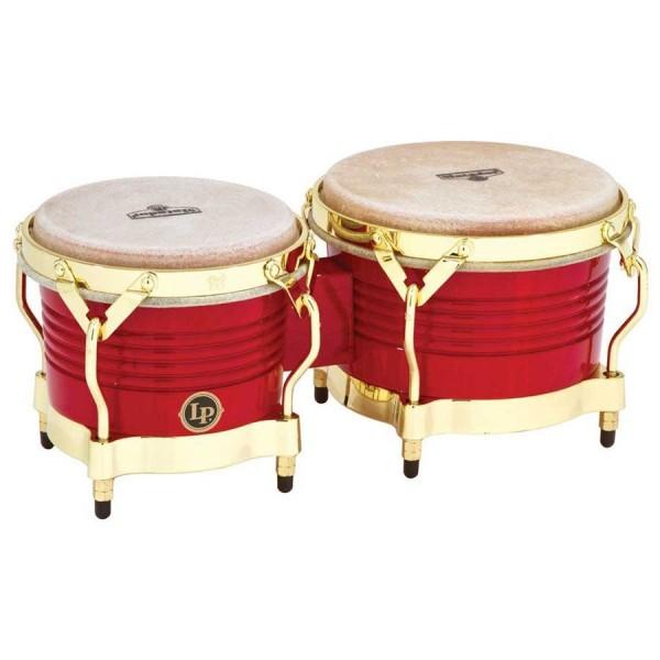 M201-RW LP Matador Wood Bongos, Red/Gold