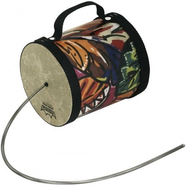 "Spring Drum 5""x5"" Fabric Trorical Leaf Remo"