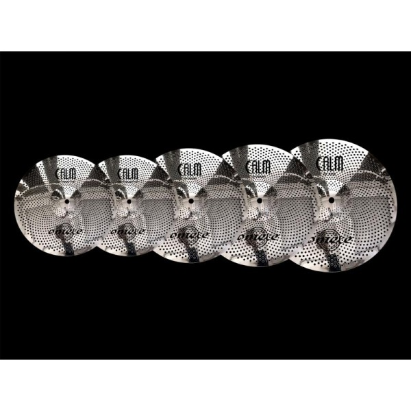 Omete Low Volume Silver Series Cymbal Set with Bag