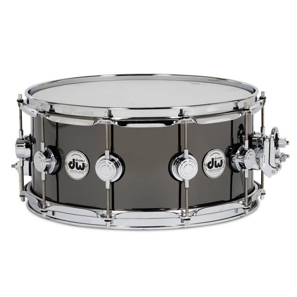 DW Collectors series Snare Black Nickel over Brass 14x6.5''