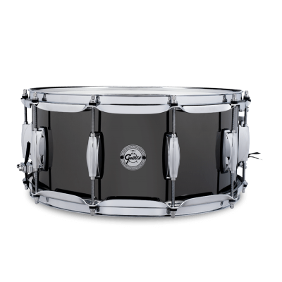 S1-6514-BNS Gretsch Snare Black Nickel over Steel