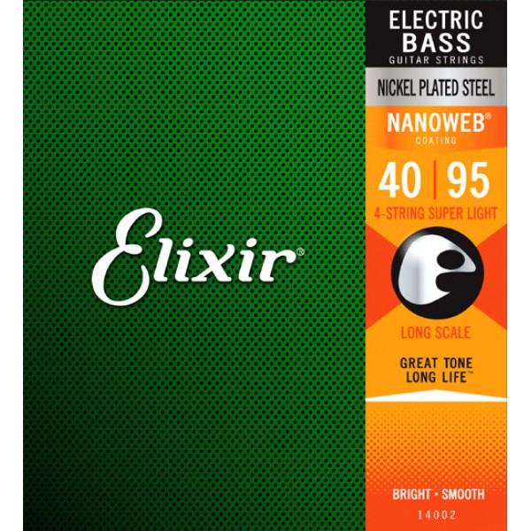 Elixir Nanoweb Super Light Bass Guitar 40-95  14002