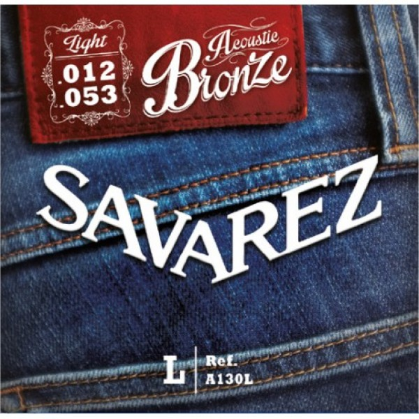A130L Bronze Acoustic guitar Light set Savarez  12-53