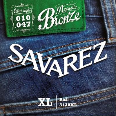Savarez A130XL Bronze Acoustic guitar extra light set 10-47